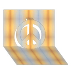 Blue Yellow Summer Pattern Peace Sign 3d Greeting Card (7x5) by Costasonlineshop