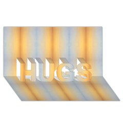 Blue Yellow Summer Pattern Hugs 3d Greeting Card (8x4) by Costasonlineshop