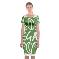Vegan Label3 Scuro Classic Short Sleeve Midi Dress by CitronellaDesign