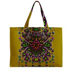 Fantasy Flower Peacock With Some Soul In Popart Zipper Mini Tote Bag by pepitasart