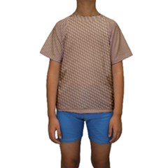 Tooling Patterns Kids  Short Sleeve Swimwear by Zeze