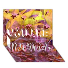 Falling Autumn Leaves You Are Invited 3d Greeting Card (7x5)