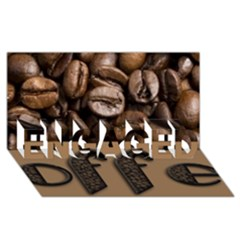 Funny Coffee Beans Brown Typography Engaged 3d Greeting Card (8x4) by yoursparklingshop