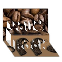 Funny Coffee Beans Brown Typography You Rock 3d Greeting Card (7x5) by yoursparklingshop
