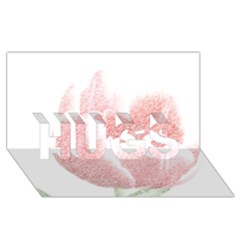 Red Tulip pencil drawing HUGS 3D Greeting Card (8x4) by picsaspassion