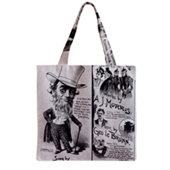 Vintage Song Sheet Lyrics Black White Typography Grocery Tote Bag by yoursparklingshop