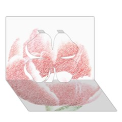 Tulip Red Pencil Drawing Art Clover 3d Greeting Card (7x5) by picsaspassion