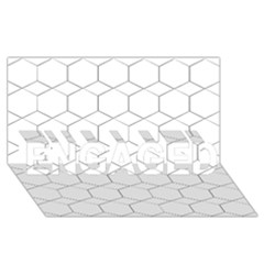 Honeycomb   Diamond Black And White Pattern Engaged 3d Greeting Card (8x4) by picsaspassion