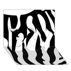 Zebra Horse Skin Pattern Black And White Boy 3d Greeting Card (7x5) by picsaspassion