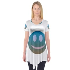 Smiley Short Sleeve Tunic  by picsaspassion