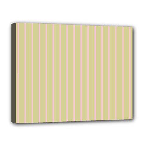 Summer Sand Color Pink Stripes Canvas 14  X 11  by picsaspassion