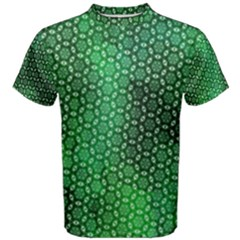 Green Abstract Forest Men s Cotton Tee by DanaeStudio