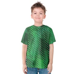 Green Abstract Forest Kids  Cotton Tee by DanaeStudio