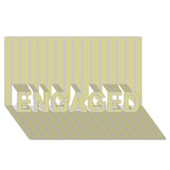 Summer Sand Color Lilac Stripes Engaged 3d Greeting Card (8x4) by picsaspassion