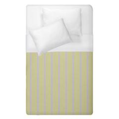 Summer Sand Color Lilac Stripes Duvet Cover Single Side (single Size) by picsaspassion