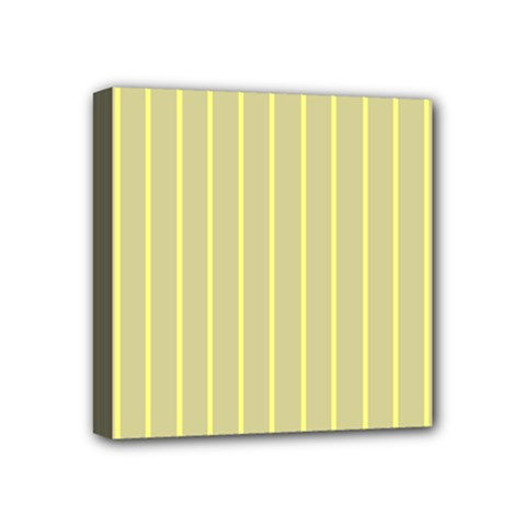 Summer Sand Color Yellow Stripes Pattern Mini Canvas 4  X 4  by picsaspassion