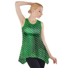 Green Abstract Forest Side Drop Tank Tunic by DanaeStudio