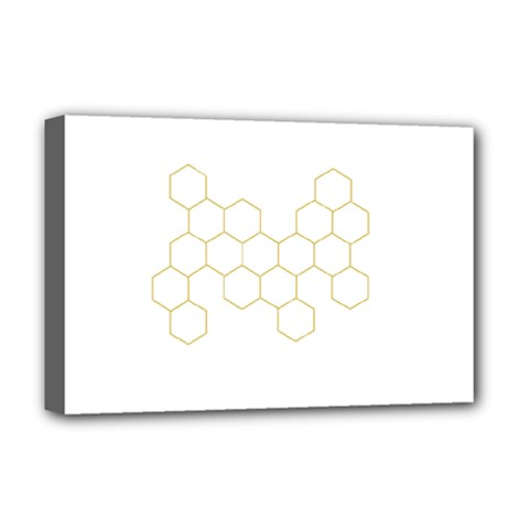 Honeycomb pattern graphic design Deluxe Canvas 18  x 12  (Stretched) by picsaspassion