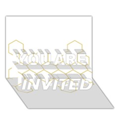 Honeycomb pattern graphic design YOU ARE INVITED 3D Greeting Card (7x5) by picsaspassion