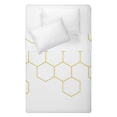 Honeycomb pattern graphic design Duvet Cover (Single Size) by picsaspassion
