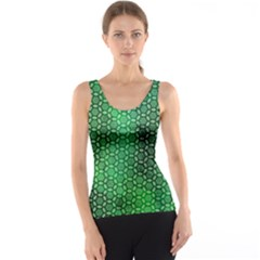 Green Abstract Forest Tank Top by DanaeStudio