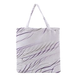 Lilac Stripes Grocery Tote Bag by picsaspassion