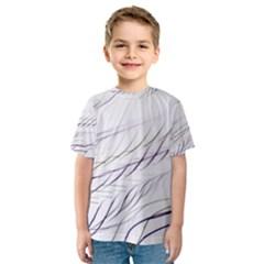 Lilac Stripes Kids  Sport Mesh Tee by picsaspassion