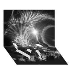Silver Feather And Ball Decoration Love Bottom 3d Greeting Card (7x5) by picsaspassion