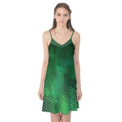 Ombre Green Abstract Forest Camis Nightgown  by DanaeStudio