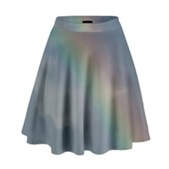 Rainbow In The Sky High Waist Skirt by picsaspassion