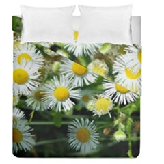 White summer flowers oil painting art Duvet Cover Double Side (Queen Size) by picsaspassion