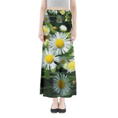 White summer flowers oil painting art Maxi Skirts by picsaspassion