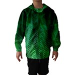 Ombre Green Abstract Forest Hooded Wind Breaker (Kids)