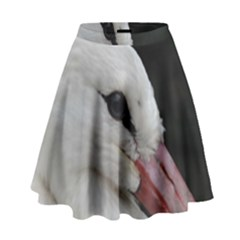 Wild Stork bird, close-up High Waist Skirt by picsaspassion