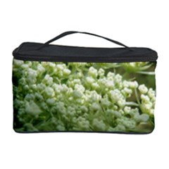 White Summer Flowers Cosmetic Storage Case by picsaspassion
