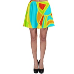 Colorful decor Skater Skirt