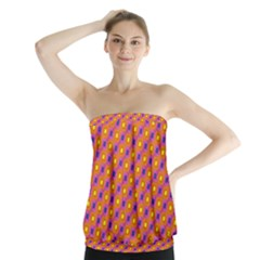 Vibrant Retro Diamond Pattern Strapless Top by DanaeStudio