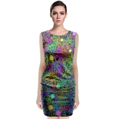 Starbursts Biploar Spring Colors Nature Classic Sleeveless Midi Dress by Zeze