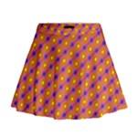 Vibrant Retro Diamond Pattern Mini Flare Skirt