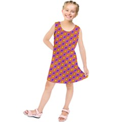 Vibrant Retro Diamond Pattern Kids  Tunic Dress by DanaeStudio
