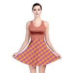Vibrant Retro Diamond Pattern Reversible Skater Dress