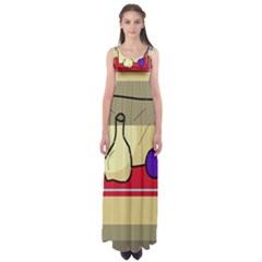 Decorative art Empire Waist Maxi Dress