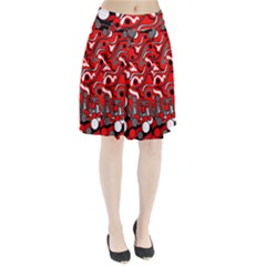 Red mess Pleated Skirt by Valentinaart