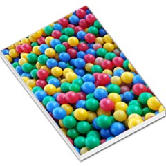 Funny Colorful Red Yellow Green Blue Kids Play Balls Large Memo Pads by yoursparklingshop