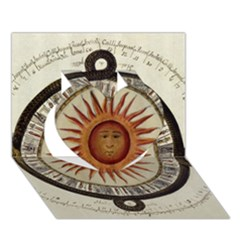 Ancient Aztec Sun Calendar 1790 Vintage Drawing Heart 3d Greeting Card (7x5)