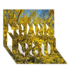 Nature, Yellow Orange Tree Photography Thank You 3d Greeting Card (7x5) by yoursparklingshop