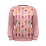 Ice Cream and Cupcake Sweet Tooth Pattern A Women s Sweatshirt