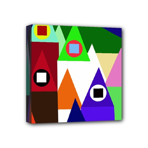 Colorful Houses  Mini Canvas 4  X 4  by Valentinaart