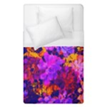 Purple Painted Floral and Succulents Duvet Cover (Single Size)