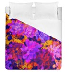 Purple Painted Floral and Succulents Duvet Cover (Queen Size)